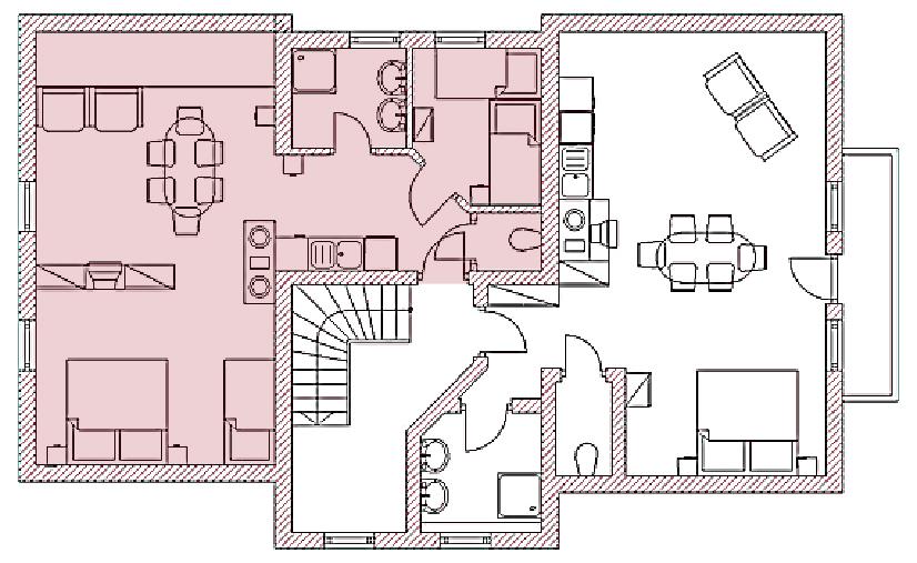 Grundriss Appartement Maria