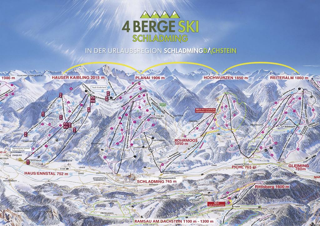 Schladminger 4-Berge-Skischaukel Panorama